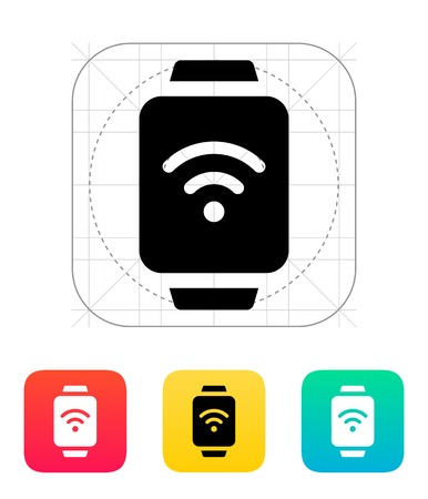 smartcard: Wireless payment on smart watch icon. Illustration