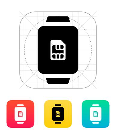 sim card: SIM card in watch icon.