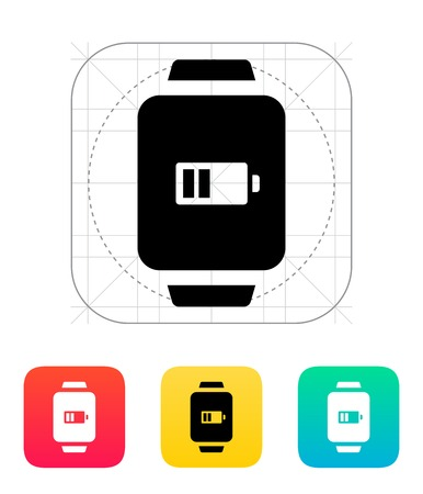 wristband: Battery charge in smart watch icon. Illustration