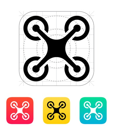 Quadcopter icon. Ilustrace