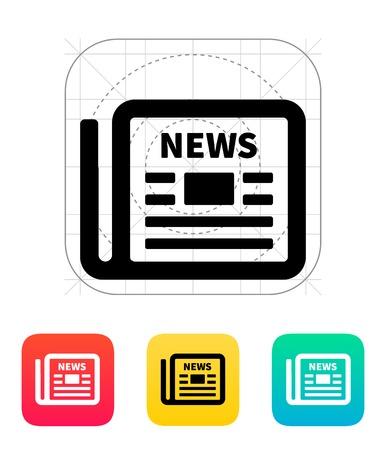 news letter: Newspaper icon. Illustration