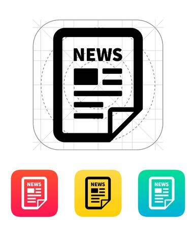 newsletter icon: News file icon.