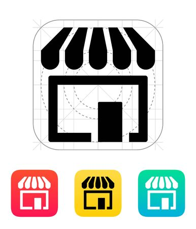 Store, supermarket icon. Illustration