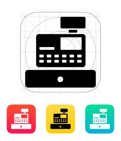 numpad: Cash register machine icon. Illustration