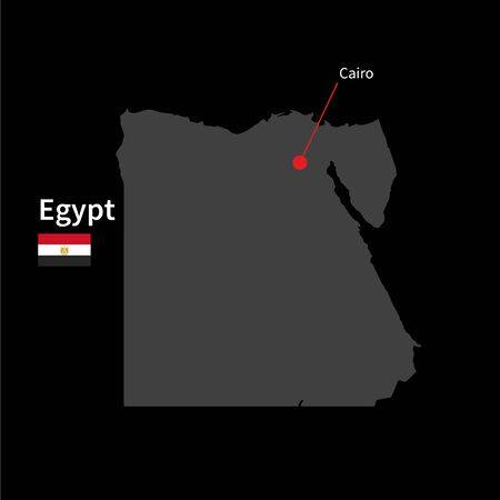 Detailed Map Of Zambia And Capital City Lusaka With Flag On Black - Map of egypt with capital