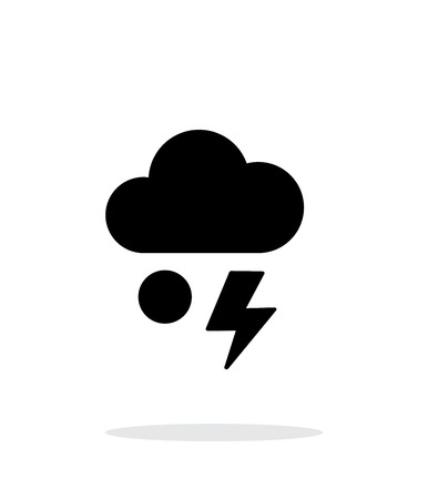 hail: Hail with lightning weather simple icon on white background.