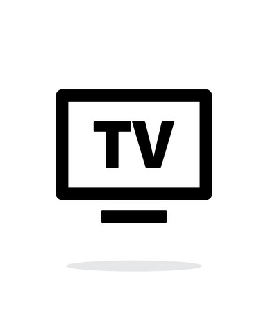 Flatscreen TV simple icon on white background. Vector