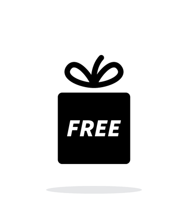 free gift: Free gift icon on white background.
