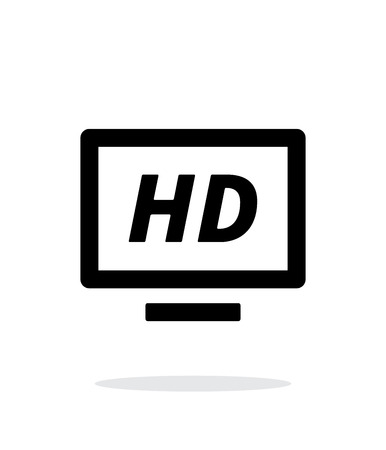 TV simple icon on white background. Vector