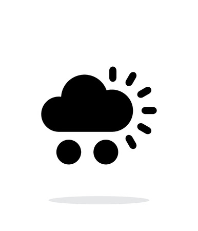 windstorm: Hail weather simple icon on white background.