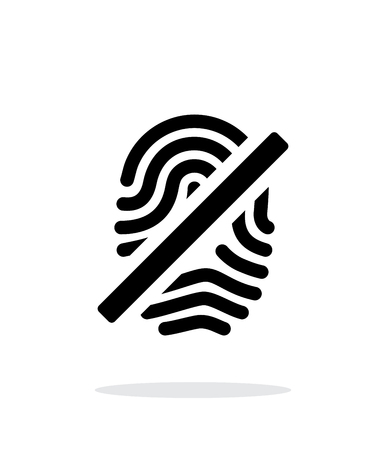 dactylogram: Fingerprint rejected icon on white background. Illustration