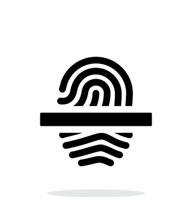 dactylogram: Scanning finger icon on white background. Illustration