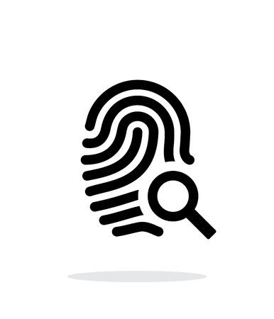 odcisk kciuka: Odcisk palca i palca ikonę na białym tle. Ilustracja