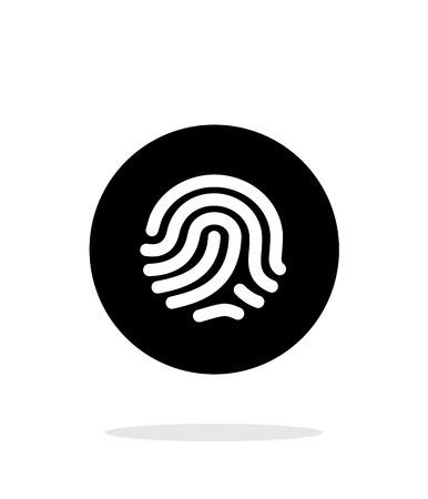 odcisk kciuka: Odcisk palca ikonę skanera na białym tle. Ilustracja
