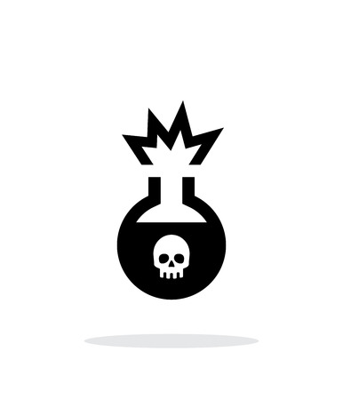 bane: Florence flask with dangerous substance simple icon on white background.