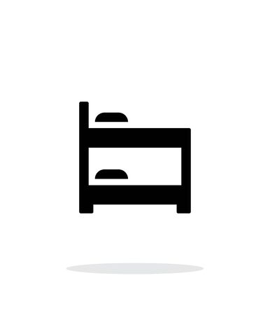 bunk bed: Bunk bed simple icon on white background.