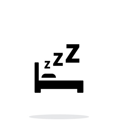 Sleeping in bed simple icon on white background. Vector