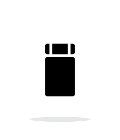 sleeping bags: Sleeping mat simple icon on white background.