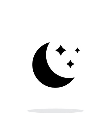 Moon simple icon on white background. Illustration