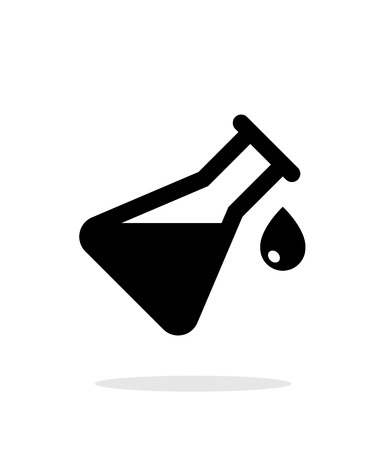 Drop from flask simple icon on white background. Vector