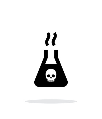 hydrogen bomb: Dangerous substance simple icon on white background.