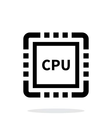 high speed internet: CPU simple icon on white background.