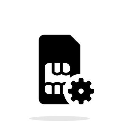 prepaid card: SIM card setting simple icon on white background.