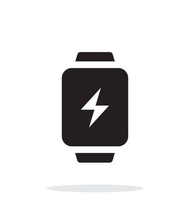 charge: Charge sign in smart watch simple icon on white background. Illustration