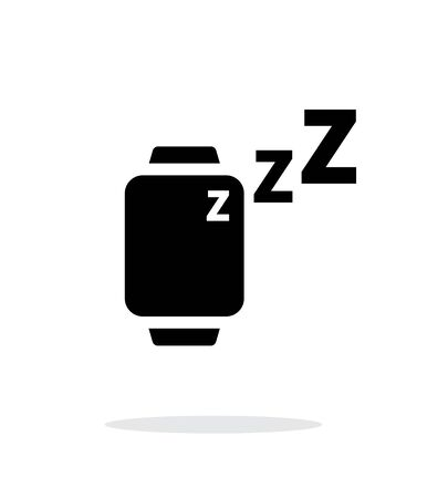 mode: Sleep mode in smart watches simple icon on white background.