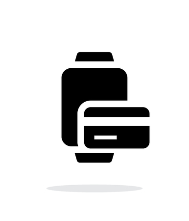 smart card: Payment card in smart watches simple icon on white background. Illustration