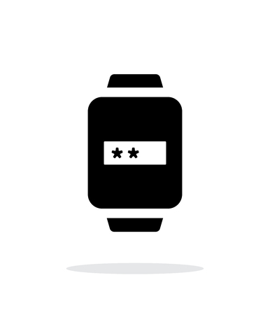 username: Password in smart watch simple icon on white background. Illustration