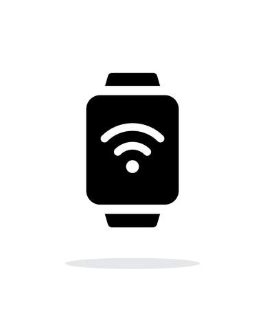 smartcard: Wireless payment on smart watch simple icon on white background. Illustration