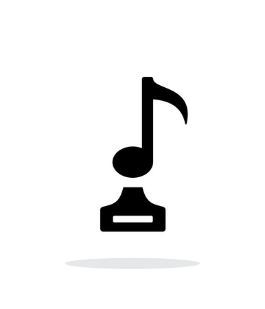melodist: Music simple icon on white background.