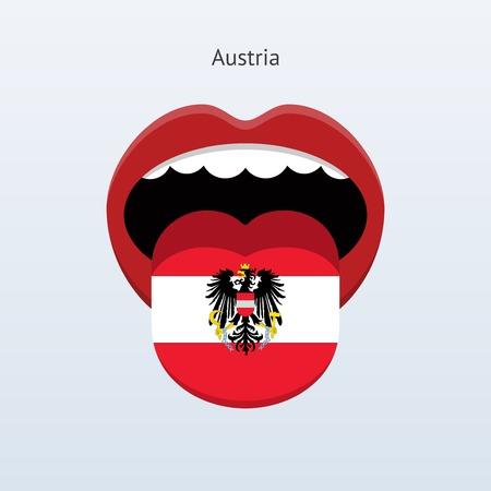 linguistics: Austria language. Abstract human tongue. Illustration