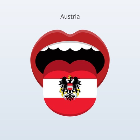 Austria language. Abstract human tongue. Illustration
