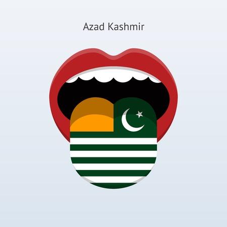 kashmir: Azad Kashmir language. Abstract human tongue. Illustration