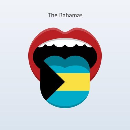 Bahamas language. Abstract human tongue.