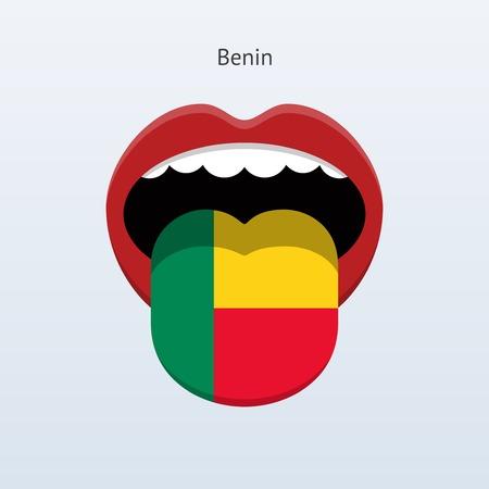 linguistics: Benin language. Abstract human tongue.