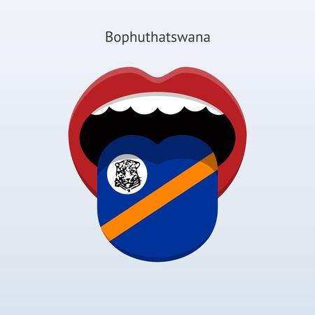 Bophuthatswana language. Abstract human tongue. Illustration