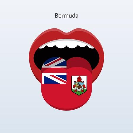 linguist: Bermuda language. Abstract human tongue.