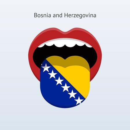 linguistics: Bosnia and Herzegovina language. Abstract human tongue.