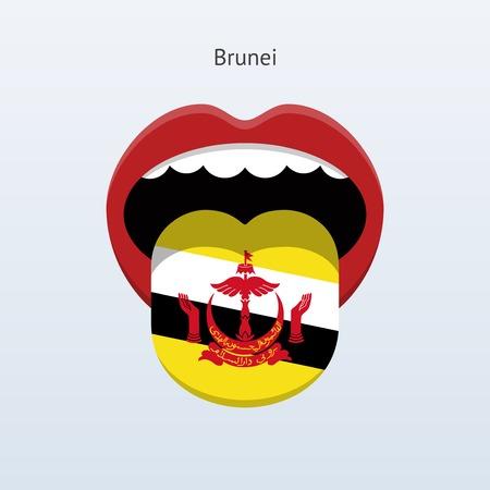 Brunei language. Abstract human tongue.