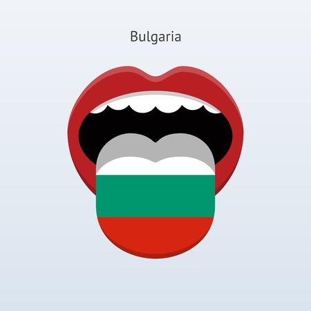 linguist: Bulgaria language. Abstract human tongue. Illustration