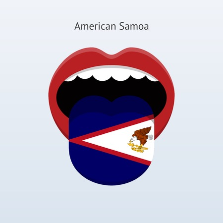 samoa: Langue Samoa am�ricain. R�sum� langue humaine. Illustration