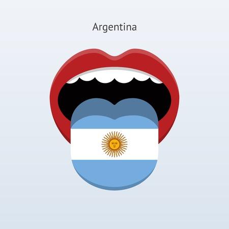 Argentina language. Abstract human tongue.