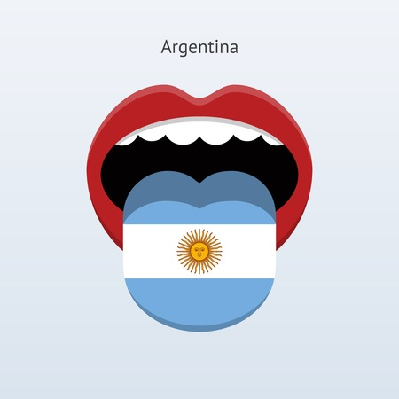 linguistics: Argentina language. Abstract human tongue.