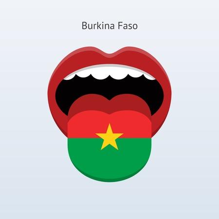 linguist: Burkina Faso language. Abstract human tongue. Illustration