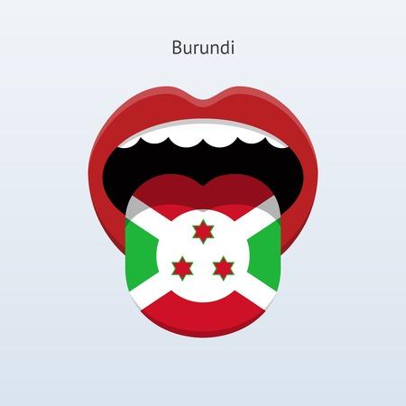 Burundi language. Abstract human tongue. Çizim