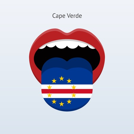 linguist: Cape Verde language. Abstract human tongue. Illustration