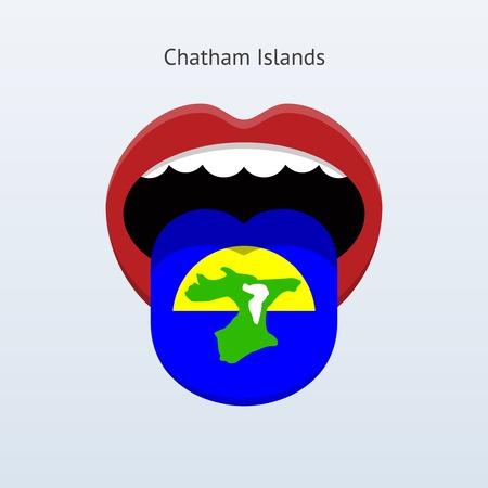 Chatham Islands language. Abstract human tongue.